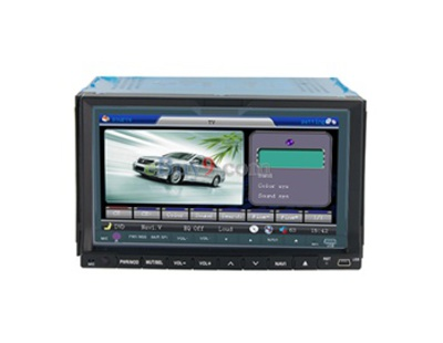 "K-6766GI-2 7"" Touch Screen High Definition Digital Car DVD Player (Black)-As picture"