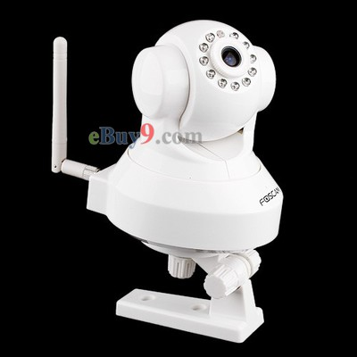 FOSCAM Wireless IP Camera WiFi Dual Webcam Pan/Tilt WPA  FI8918W-As picture