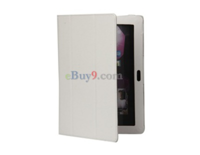 "PU Leather Case for 10.1"" Samsung Galaxy Tab P7500/7510 (White)-As picture"