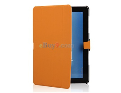 Smart PU Leather Protective Case for Samsung Galaxy Tab 10.1 P7510 (Orange)-As picture