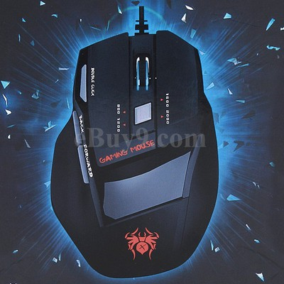 7 Buttons USB 800/1200/1600/2000 DPI Wired Gaming Optical Mouse-As picture