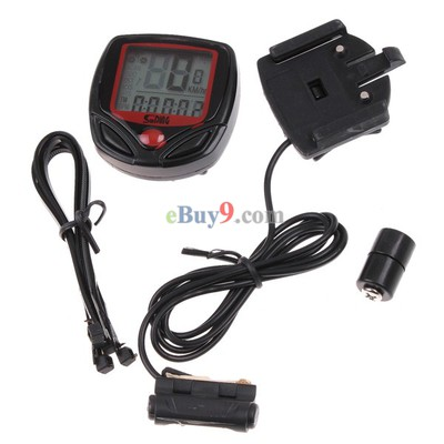 Multifunctional Waterproof LCD Display Cycling Bike Bicycle Computer Odometer Speedometer 16 Functions-As picture