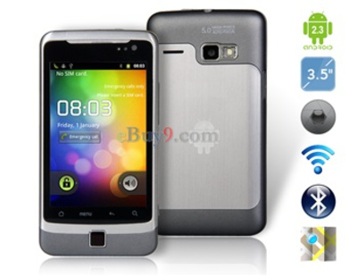 3,5 kapazitiven Touchscreen Android 2.3 3G-Smartphone mit Wi-Fi , GPS und 3G- Video (Schwarz)-schwarz