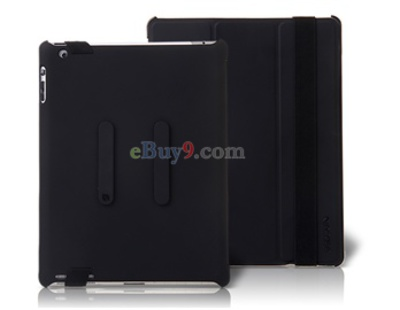 Ultra-slim Foldable Leather Flip Case for iPad 2 (Black)-As picture