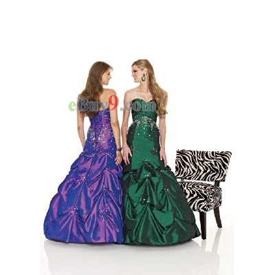 Ball Gown Sweetheart Sleeveless Taffeta Evening/ Prom Dress-As picture