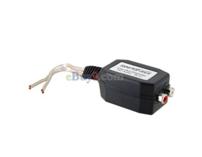 Car Audio Line Out Level Converter (Black)-As picture
