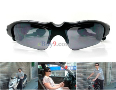 2GB UV Protection Hands-free Sunglasses Sports MP3 Player-Black