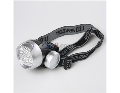 2W 30 LED White Light 180 Degree Adjustable Bicycle Bike Cycling Head Lamp (Silver)}-As picture