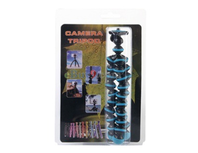 Mini Flexible Camera Tripod (Blue)-As picture