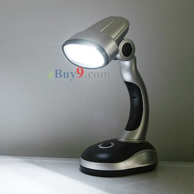 Battery-Powered Cordless Mini 12 LED Emergency Desk Lamp-As picture