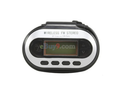 Zune MP3 LCD FM Stereo Transmitter (Black)-As picture