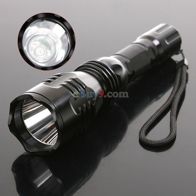 CREE Q3 Led 180 Lumens Flashlight Torch Lamp 5-Mode Adjustable Waterproof}-As picture