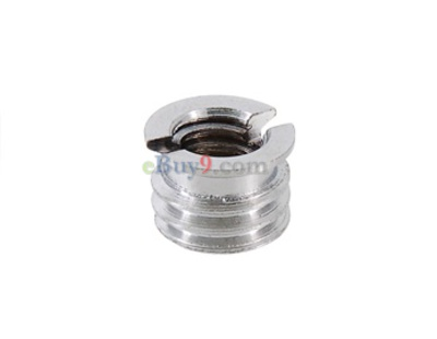 Metal Screw Adapter for Camera Tripod (Silver)-As picture