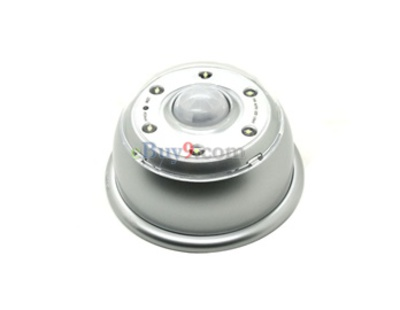 Pir Auto 6 LED Lamp (Silver)-As picture
