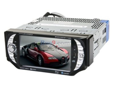 "5"" 1 Din Car DVD Player with GPS Bluetooth DVB-T RDS EMS Shipping-As picture"