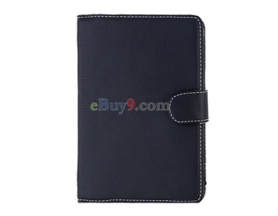 PU Leather Case for Amazon 4th (Black)-As picture
