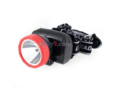 DC 220V 2-Mode Adjustable Strap White Light LED Rechargeable Head Lamp (Black)}-As picture