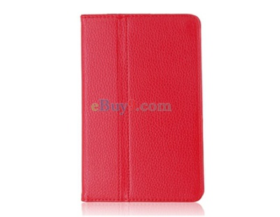 Litchi Pattern PU Protective Case for Samsung 6220/ 6210 (Red)-As picture