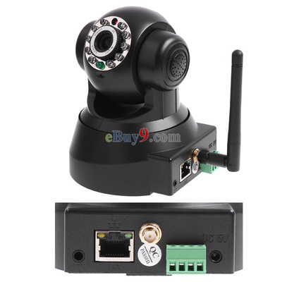 EasyN Wireless WIFI IP Camera IR LED 2-Audio Nightvision Black-As picture