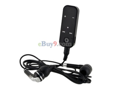 Wireless Bluetooth Stereo Headset with Clip and Light (Black)-As picture