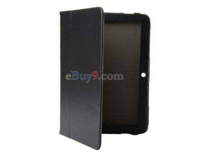 PU Leather Case for Samsung P7500 Galaxy Tab (Black)-As picture