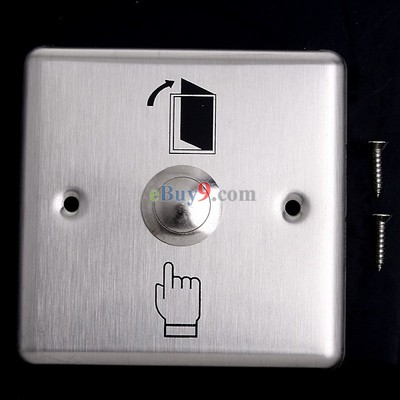 Stainless Steel Door Exit Push Release Button Switch for Access Control-As picture