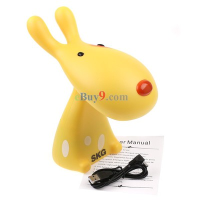 SKG 16 LED USB Light Foldable Dog Table Desk Lamp Yellow-As picture