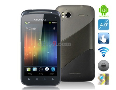 Android 4,0 3G 4 kapazitive Touchscreen -Smartphone mit Wi-Fi , GPS (Schwarz)-schwarz
