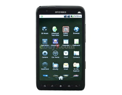 4,3 Resistive Touchscreen Android 2.2 Smartphone mit TV -, Java- , Wi-Fi und GPS (Schwarz)-schwarz