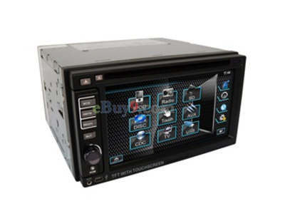 "2-Din 6.2"" LCD Touch Screen In-Dash Car DVD Player with Detachable Panel / TV / RDS / Bluetooth / IR / SD / USB Port EMS Shipping-As picture"