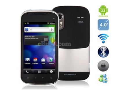 Android2.3.5 3G-Smartphone mit 4 kapazitiven Touchscreen , GPS und Wi-Fi (Schwarz)-schwarz