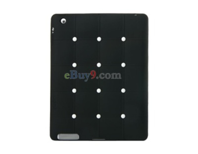 CDN Check Pattern Silicone iPad 2 Case (Black)-As picture