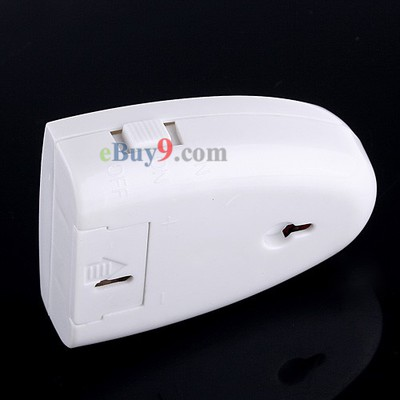 Mini Wireless IR Sensor Auto Welcome Device/Door Ring English White-As picture