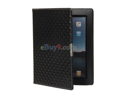 SF Diamond Veins Protective Case Stand for iPad2 (Black)-As picture