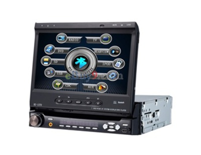 "1 Din 7"" Touch Screen Car DVD Player with Bluetooth / RDS / TV / AVIN / 3D Interface  (EMS Shipping)-As picture"