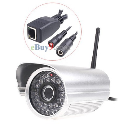 Apexis Wireless Wired WiFi IR LED Security IP CCTV Camera Nightvision Silver-As picture