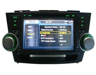 8&quot; Car DVD Player For Toyota Highlander with GPS IPOD DVB-T Bluetooth RDS AVIN EMS Shipping-As picture