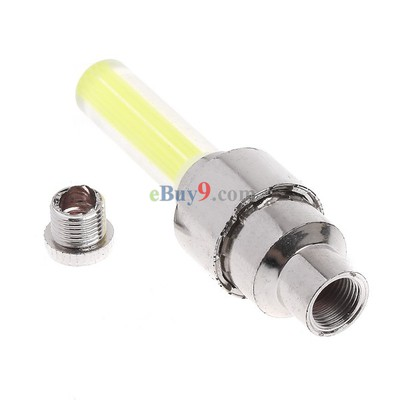 Yellow Bicycle Car Valve Caps Light Tyre Wheel Neon LED Lamp-As picture
