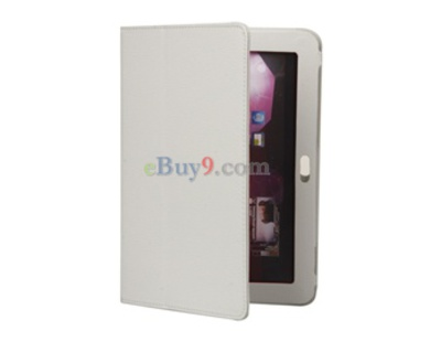 "PU Leather Case for Samsung 8.9"" Galaxy Tab P7300 (White)-As picture"