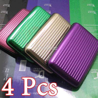 4pcs Business Aluminum ID Credit Card Wallet Holder*Dw-Multi Color