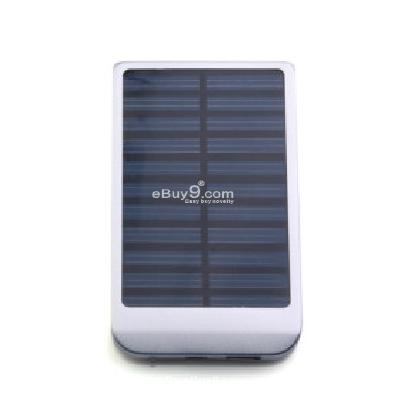 Portable USB Solar Panel Charger for iPhone 4 3G 3GS Mobile Cell phones (Silver) IC163548-As picture