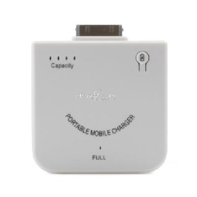 1900mAh High-quality Portable Power Station with 7 types plugs for iphone4(White) IC201821-White