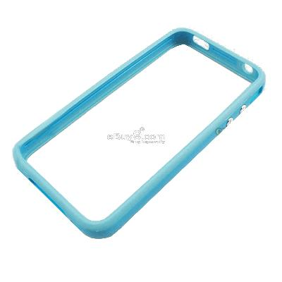 OEM Bumper Frame TPU Case cover for Apple iphone 4 }-Blue