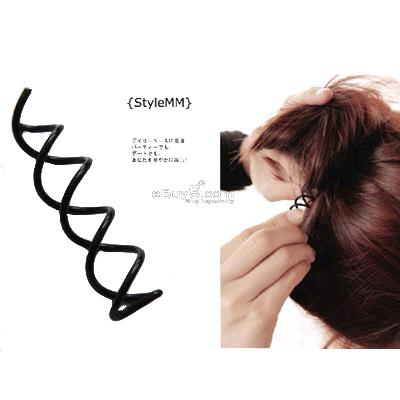10X Spin Pin Hair Clip Stick French Twist qqmtw-Black