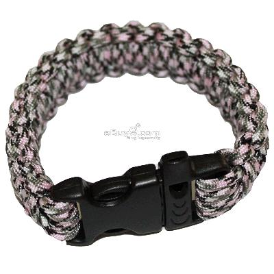 Bangle parachute cord Military Survival Bracelet SL34w-Coffee