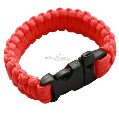 Bangle parachute cord Military Survival Bracelet SL99w-Red