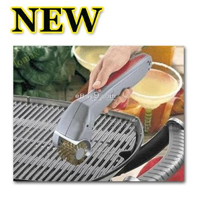 CLEANER Cordless Barbecue Grill Cleaning Brush sztvw-Silver
